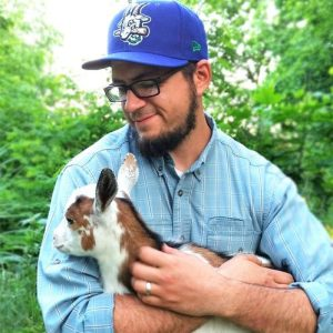 Gavin Deming and goat